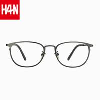 HAN 纯钛近视眼镜框架3312AL+1.60 非球面防蓝光镜片