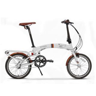 OYAMA欧亚马铝合金纵横折叠自行车16寸内3速男女式单车纵横S500 黑色
