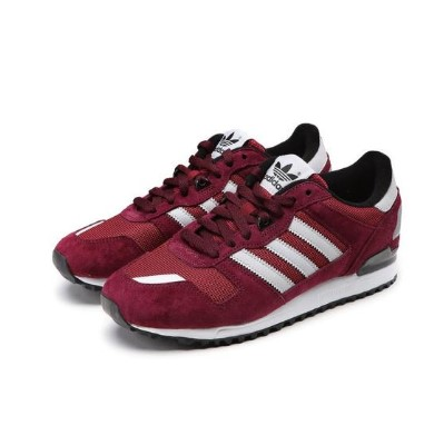 adidas Originals ZX 700 男士跑鞋 S79184 酒红 44