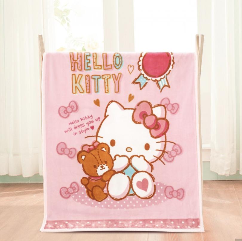 MERCURY 水星家纺 凯蒂猫 亲肤卡通云绒毯 100*140cm