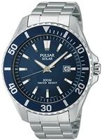Pulsar 男式手表 PX3033 x 1 模拟石英不锈钢运动表