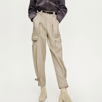 URBAN REVIVO WG03S61 女款简易工装裤