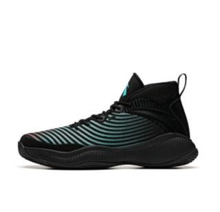 ANTA 安踏 星轨 2代 男士篮球鞋  11941632 黑/荧光水绿/树莓红-1 41