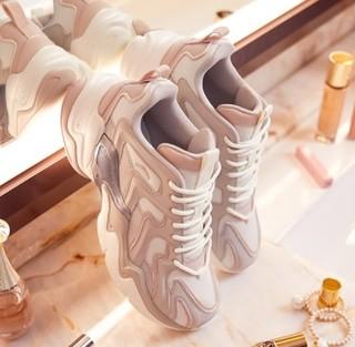 ANTA 安踏 女士休闲运动鞋 12818852-2 黑/安踏白 38