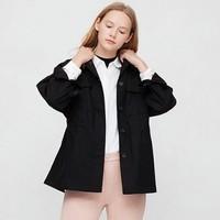 UNIQLO 优衣库 427065 女士麻棉衬衫式夹克