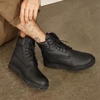 网易严选 男式粒面牛皮防水工装靴