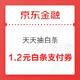 京东金融 天天抽白条 实测1.2元白条支付券 打白条立减1.2元券