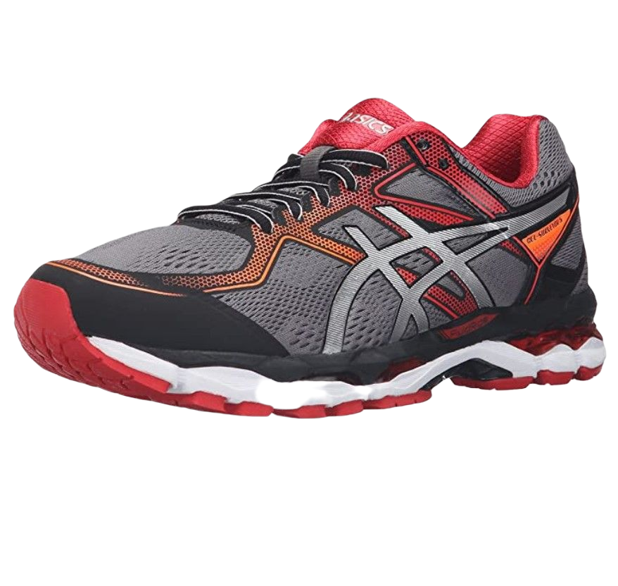 ASICS 亚瑟士 Gel-Surveyor 5 男士跑鞋 T6B4N.9093 黑色/银色/朱红色 40
