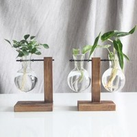 IMU 复古木质玻璃花瓶  复古A(1瓶)