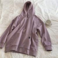 帕芙蜜 连帽卫衣 紫色