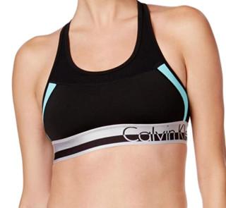 Calvin Klein 卡尔文·克莱 Performance 女士运动内衣 黑蓝色 X