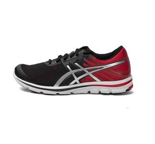 ASICS 亚瑟士 GEL-ELECTRO33 男士跑鞋 T411N-9991 黑色/银色/红色 40.5
