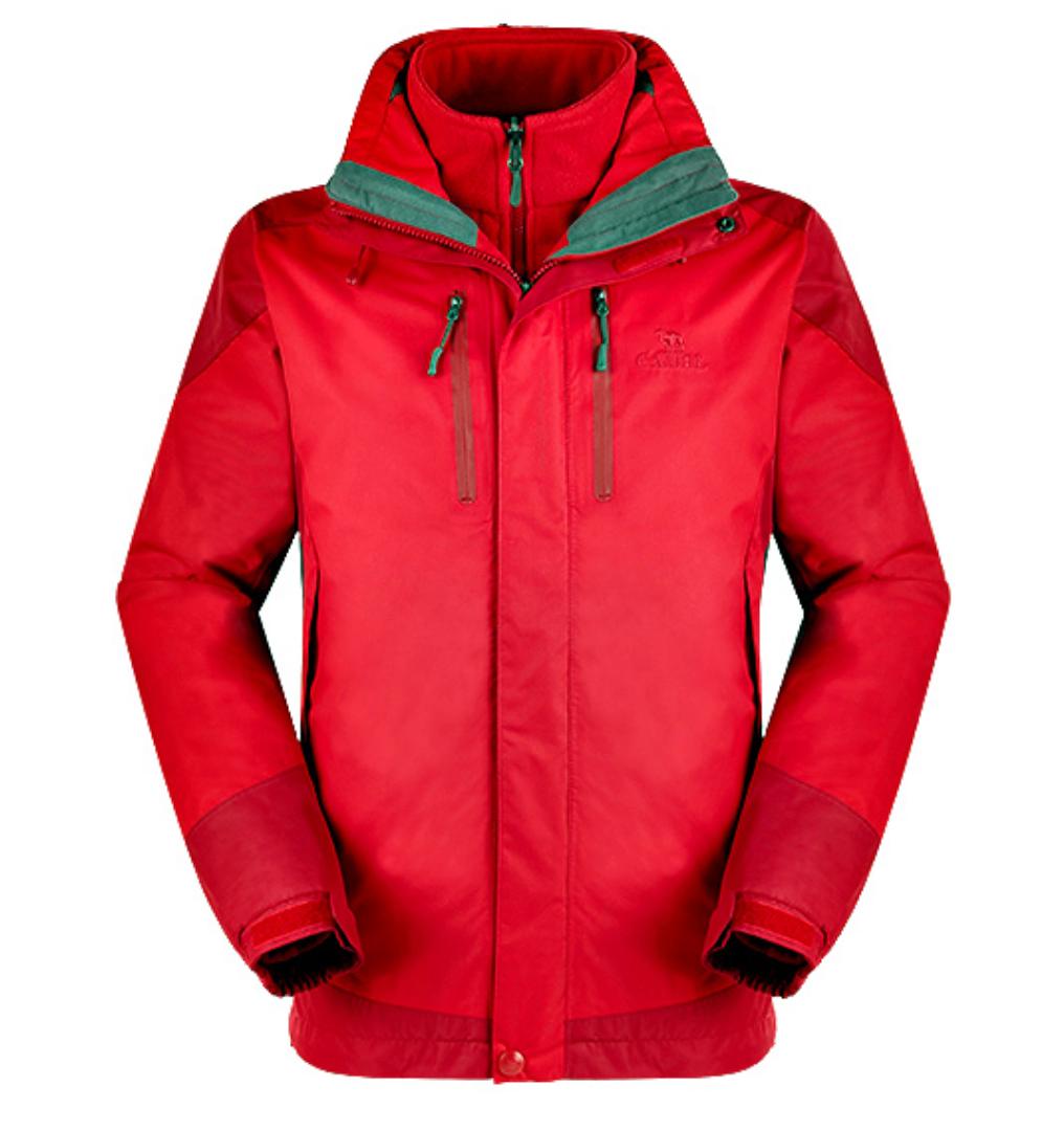 CAMEL 骆驼 男士冲锋衣 3F60004 红色/深红 XL