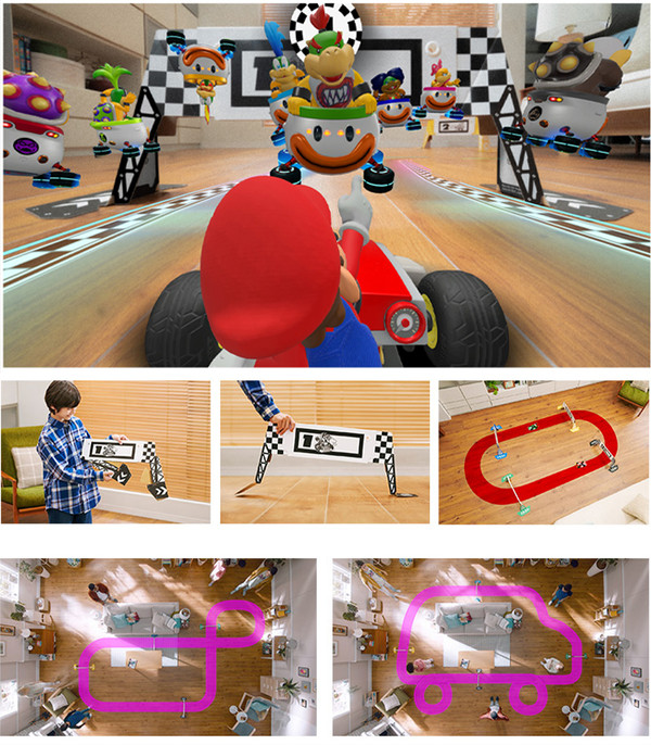 Nintendo 任天堂 NS游戏套装《马力欧卡丁车Live:家庭巡回赛》中文 现货