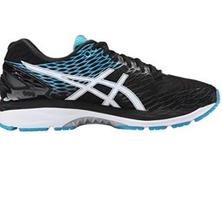 ASICS 亚瑟士 GEL-Nimbus 18 男士跑鞋  黑色/白色/蓝色 42