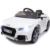 贝瑞佳 BeRica 奥迪四驱授权婴儿童电动车遥控四轮汽车男女小孩玩具车可坐人宝宝童车摇摆白色