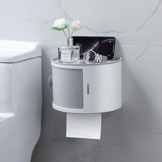 JOYNEST 趣巢  QCZJH-139 免打孔壁挂厕所纸巾盒 百搭灰(单层)