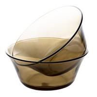 青苹果 玻璃沙拉碗  咖啡色 2只装