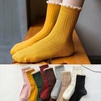 卡·同 蕾丝花边中筒袜 5双 *2件