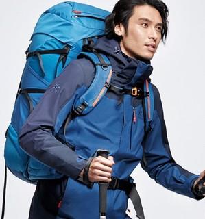KAILAS 凯乐石 男士冲锋衣 KG110383 中蓝/深蓝 S