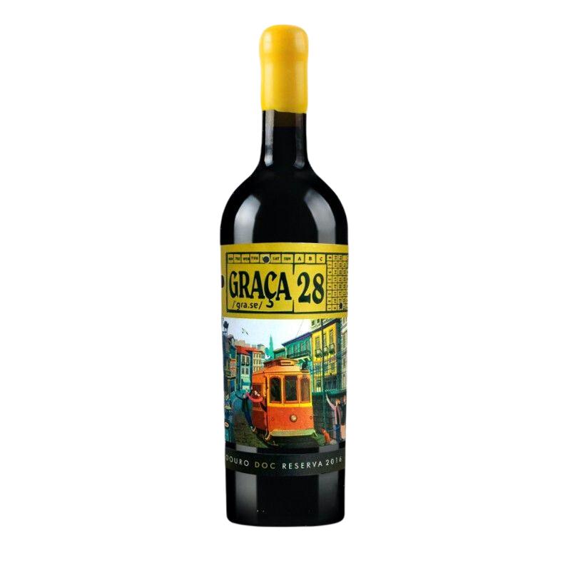 名庄高分金奖蜡封葡萄牙28路电车混酿葡萄酒750毫升 单瓶(不含礼盒) *3件