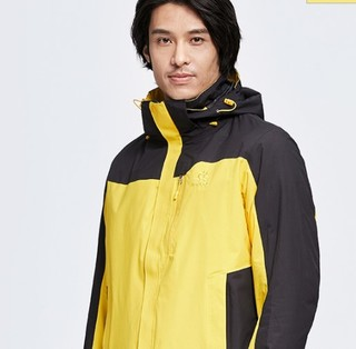 KAILAS 凯乐石 男士冲锋衣 KG110383 耀石黄/黑色 S