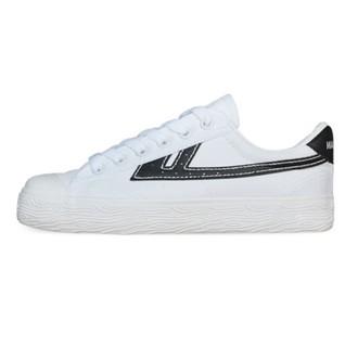 WARRIOR 回力 中性运动帆布鞋 A106 白/黑 36