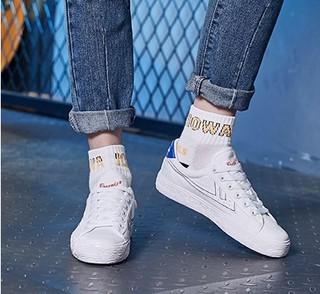 WARRIOR 回力 女士运动板鞋 WXY-A106T 白/蓝 36