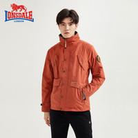 龙狮戴尔 冲锋衣男士三合一旅行夹克防风风水休闲外套秋冬新款 锈红 180/XL
