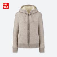 限尺码:UNIQLO 优衣库 418238 女士仿羊羔绒运动开衫