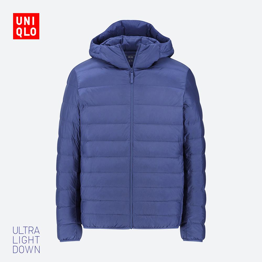 UNIQLO 优衣库 420314 男装高级轻型羽绒连帽外套
