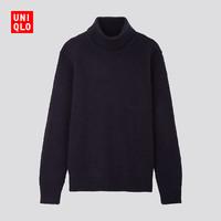 UNIQLO 优衣库 421948 男子羊毛混纺高领针织衫