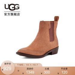 UGG 2020秋季新款女士方根高弹力三角布款时尚女靴1114254 CGND | 咖啡色 37