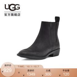 UGG 2020秋冬季新款女士方根高弹力三角布款时尚女靴子 BLK | 黑色 38