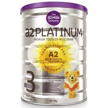 a2 白金幼儿配方奶粉 3段 900克/罐 4罐