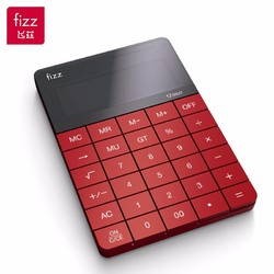 fizz 飞兹 FZ66806 双电源桌面计算器 12位大屏 红色
