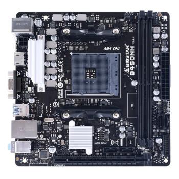 BIOSTAR 映泰 B450NH MINI-ITX迷你型主板(AMD AM4、X470)