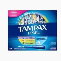 Tampax 丹碧丝 珍珠塑胶内置式长导管卫生棉条 混合47支