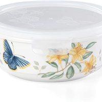 Lenox 名瓷蝶舞花香 密封 白瓷 圆形 储放碗