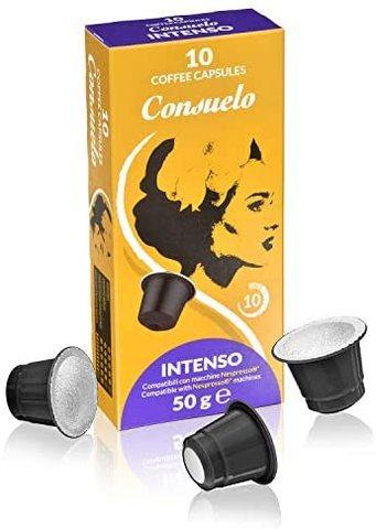 Consuelo Nespresso 兼容型浓型咖啡胶囊,100粒装(10x10)