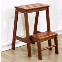 家逸 实木换鞋凳  两层