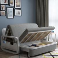 佳佰 多功能沙发床 深灰色 1.58m 带储物层
