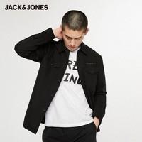 JackJones 杰克琼斯 219321518A 翻领纯棉刺绣工装外套