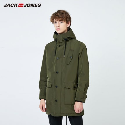 JACK JONES 杰克琼斯 219309502B 男士派克加绒大衣