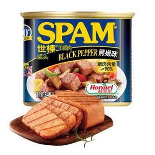 有券的上、限地区 : SPAM 世棒 黑胡椒味 午餐肉罐头 340g *11件