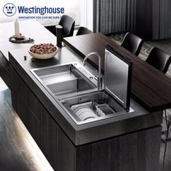 西屋 Westinghouse 水槽式洗碗机6套 一体家用全自动 超声波阶梯式消毒杀菌烘干保洁 WQP6-G6Pro