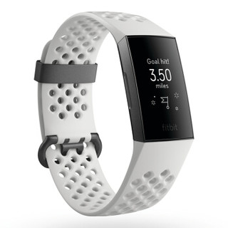 Fitbit Charge 3 特制版 智能手环 白色运动风