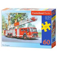 Castorland巧思进口儿童拼图60片智力玩具男孩女孩礼品幼儿园 5-6岁 消防车06595