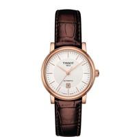 TISSOT 天梭 T122.207.36.031.00 30mm 女士机械手表 银盘 棕色皮带 圆形