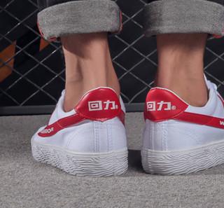 WARRIOR 回力 中性运动帆布鞋 WB1A 红白 34